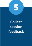 collect virtual session feedback