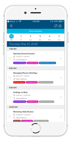 Customized Mobile Event App Agenda