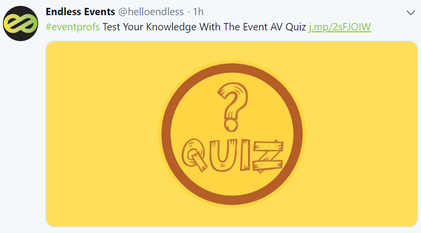 Endless Events AV Quiz