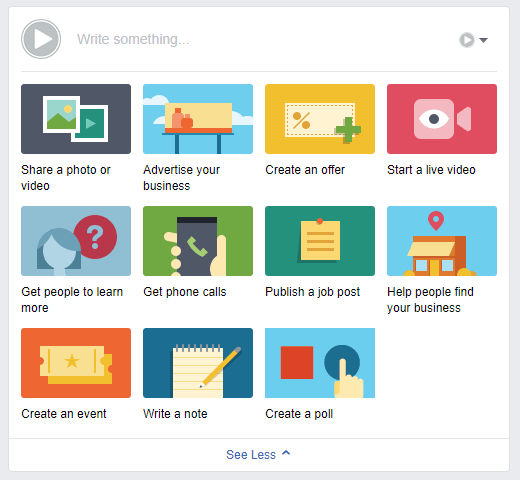 Setting up an event on your Facebook page