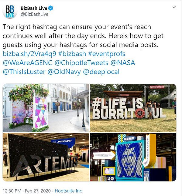 Promoting Hashtags at your event
