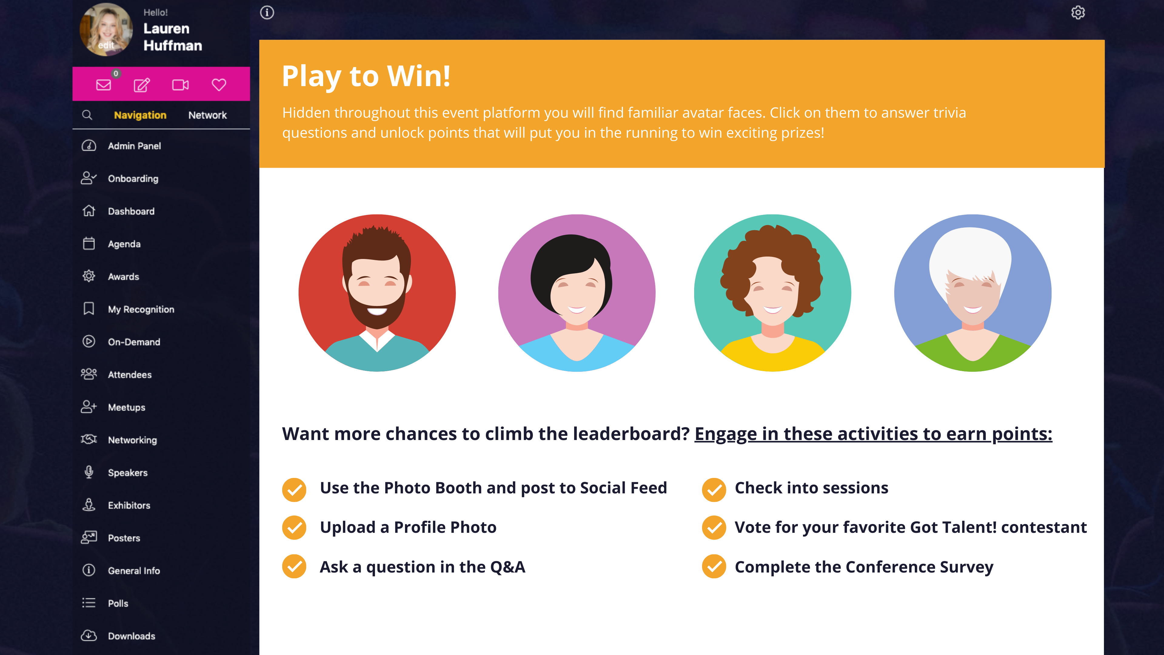 Gamification in an Event Platform