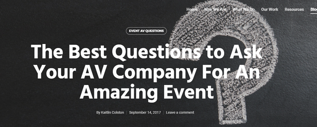 Best questions to ask AV for an amazing event