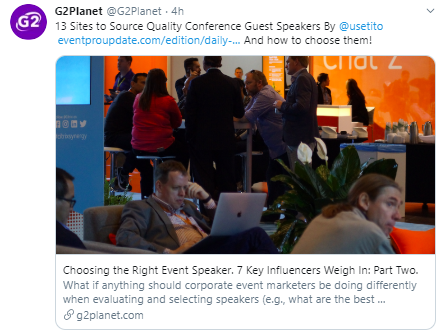 Choosing Event Speakers