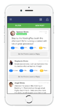 Mobile Event App Social Feed