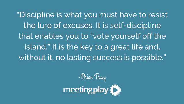 event planning tip- master self discipline