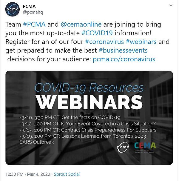 What meeting planners need to know about COVID-19