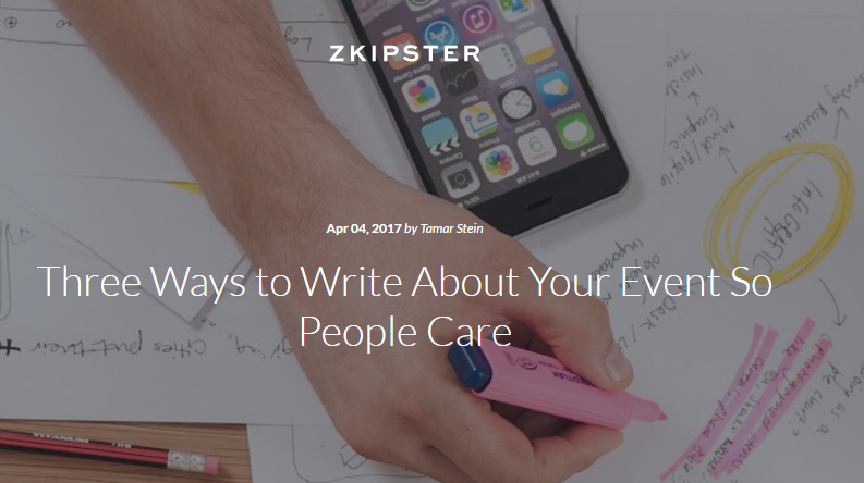writing about your event