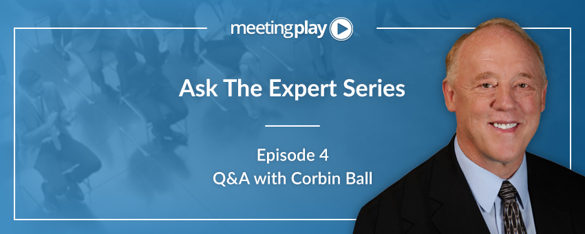 Ask the Experts: Corbin Ball Shares His Advice for Planners
