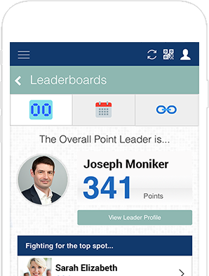 event app leadership board