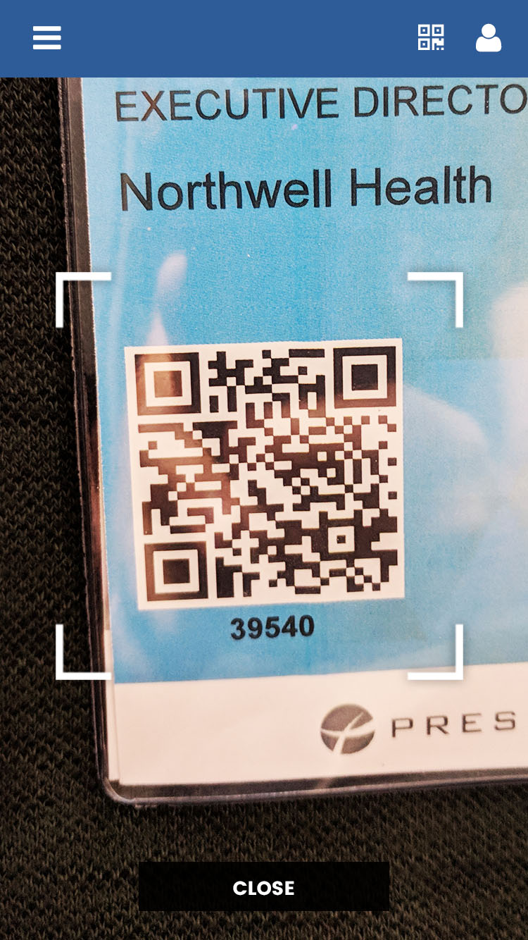 example interactive badge scanning