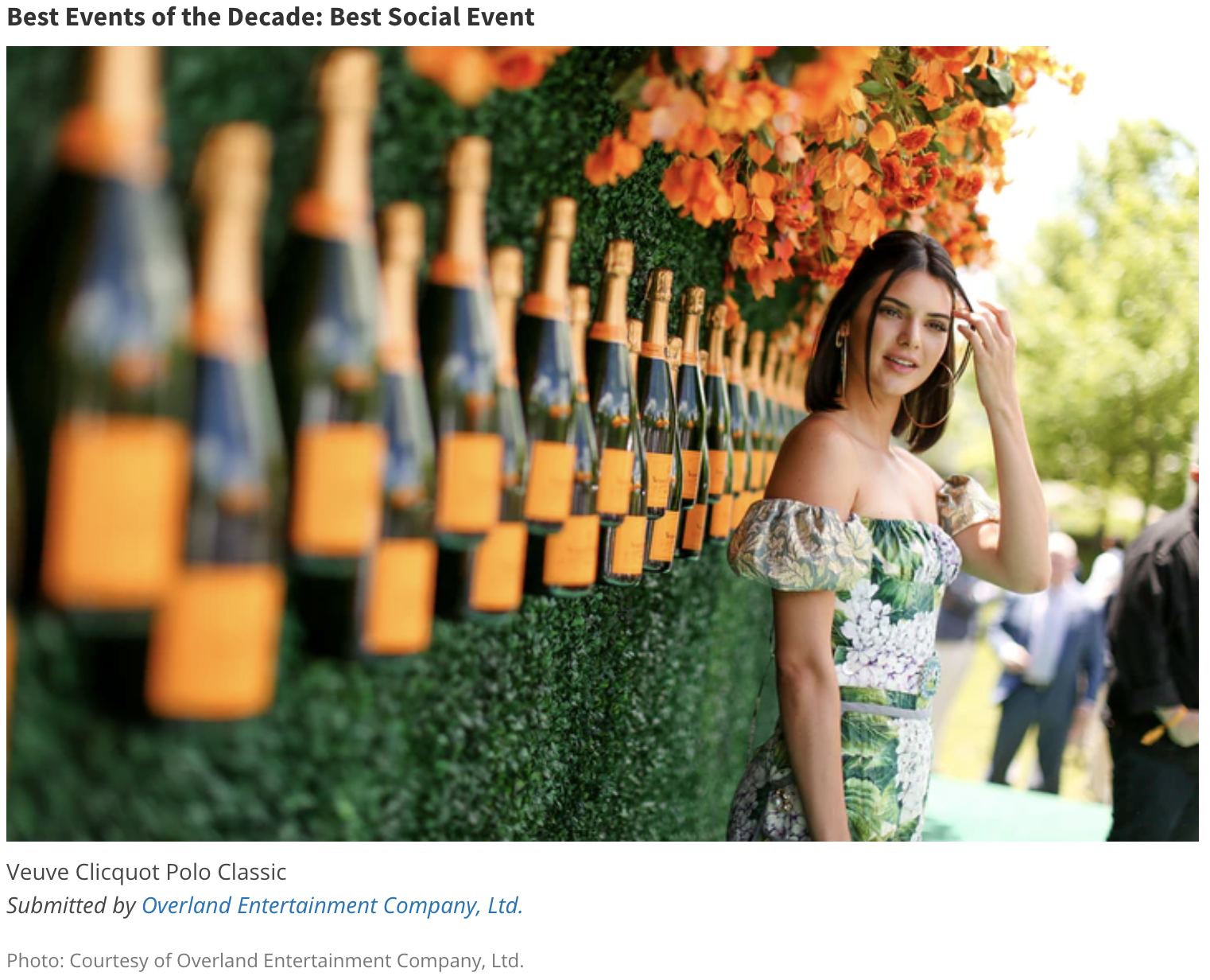 best events of the decade: Veuve Clicquot Polo Classic best social event