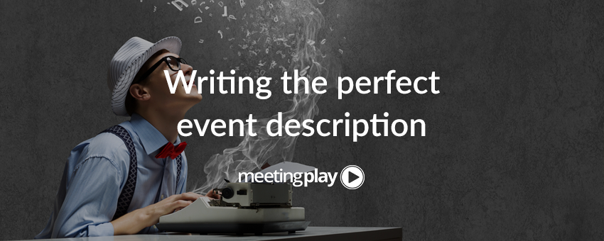 How to Write An Event Description